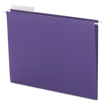 Color Hanging Folders with 1/3-Cut Tabs, 11 Pt. Stock, Purple, 2