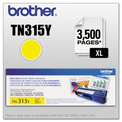 TN315Y High-Yield Toner, Yellow<br />91-BRT-TN315Y