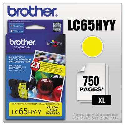 LC65HYY (LC-65HYY) Innobella High-Yield Ink, 750 Page-Yield, Yel