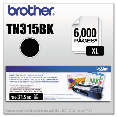 TN315BK High-Yield Toner, Black<br />91-BRT-TN315BK