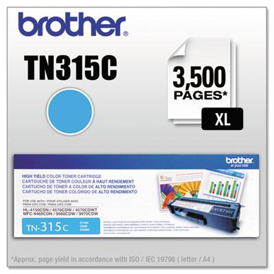 TN315C High-Yield Toner, Cyan<br />91-BRT-TN315C