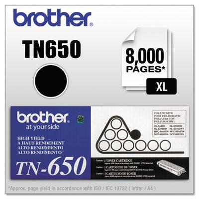 TN650 High-Yield Toner, Black<br />91-BRT-TN650