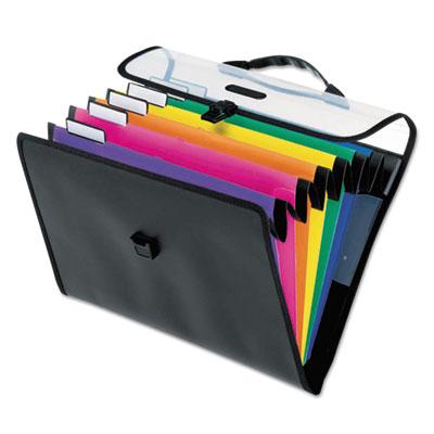 """Desk Free Hanging Organizer With Case, 1\"""" Exp., 6 Pocket, Letter"""