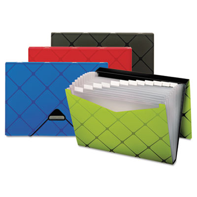 Poly Expanding File, 13-Pocket, Letter, Assorted