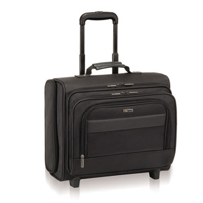 "Classic Rolling Overnighter Case, 15.6"", 16 1/2 x 6 1/2 x 13, Ba"