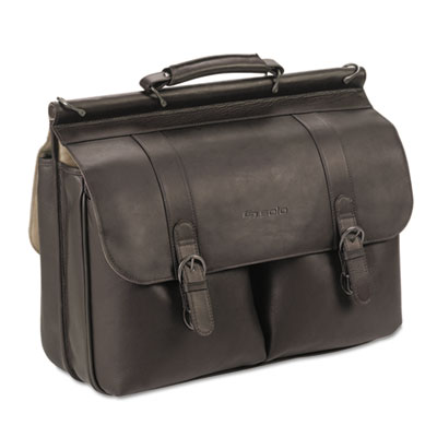 "Executive Leather Briefcase, 16"", 16 1/2 x 5 x 13, Espresso"