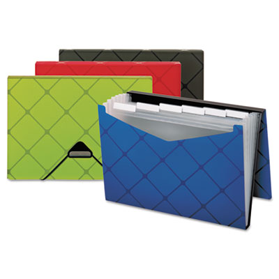 Expandable Poly Pocket File, 7-Pocket, Letter, Assorted