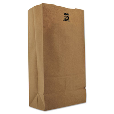 11-lb Kraft Paper Bags, Natural, 500/Carton