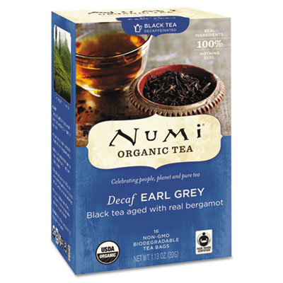 Organic Tea, Decaf Earl Grey, 16/Box