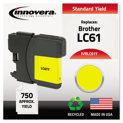 Remanufactured LC61Y Ink, 325 Page-Yield, Yellow