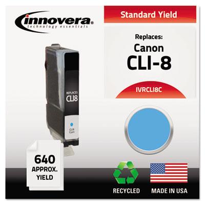 Remanufactured 0621B002 (CLI-8) Ink, Cyan<br />91-IVR-CLI8C