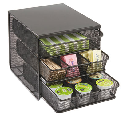 "3 Drawer Hospitality Organizer, 7 Compartments, 8 1/2""w x 11 1/4"