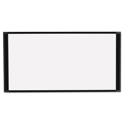 Cubicle Workstation Dry Erase Board, 36 x18, Black Aluminum Fram