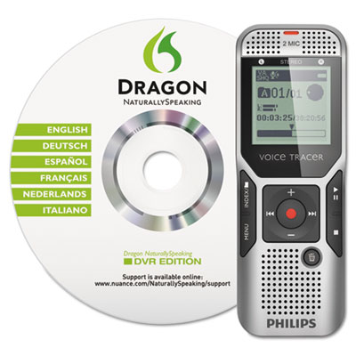 Digital Voice Tracer 1700 Recorder, 4GB, One Touch Record