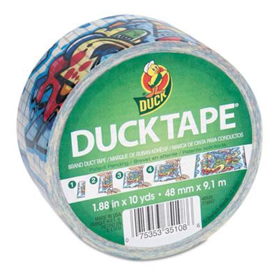 "Colored Duct Tape, 1.88"" x 10 yds, 3"" Core, Graffiti"