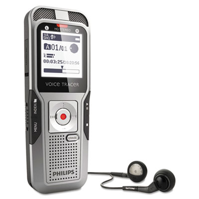 Digital Voice Tracer 3400 Recorder, 4GB, One Touch Record
