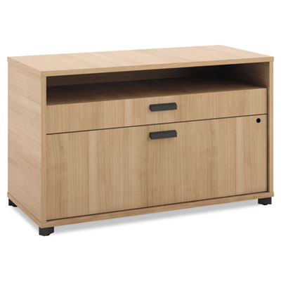 Manage Series File Center, Laminate, 36w x 16d x 22h, Wheat