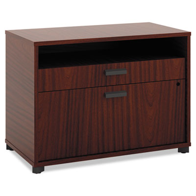 Manage Series File Center, Laminate, 30w x 16d x 22h, Chestnut