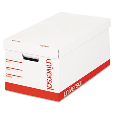 Economy Storage Box, Letter/Legal Size, White, 4/Carton
