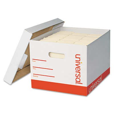 Extra-Strength Storage Box w/Lid, Letter/Legal, 12 x 15 x 10, Wh