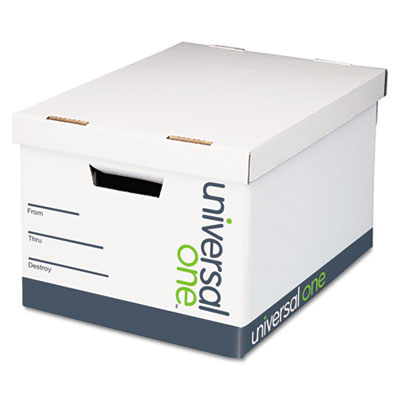 Extra-Strength Storage Box, Letter/Legal, 12 x 15 x 10, White, 1