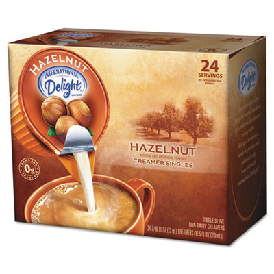 Coffee Creamer, Hazelnut, .44 oz Liquid, 24/Box