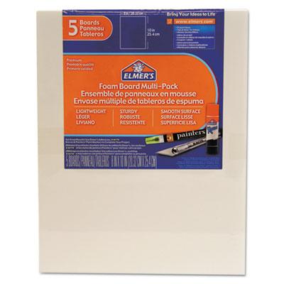 White Pre-Cut Foam Board Multi-Packs, 8 x 10, 5/PK<br />91-EPI-950020