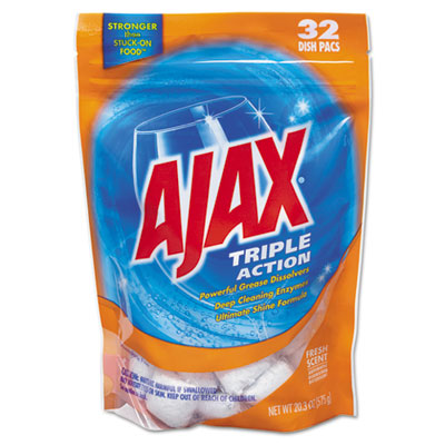 Triple Action Automatic Dishwasher Detergent Packs, Fresh Scent,
