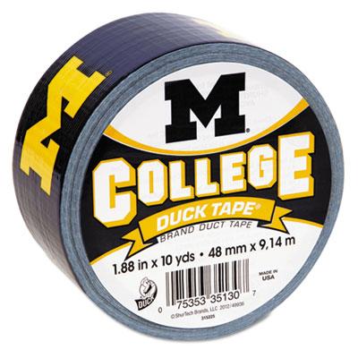"College DuckTape, University of Michigan Wolverines, 1.88"" x 10"