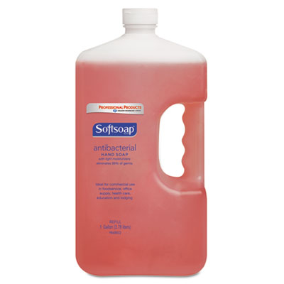 Antibacterial Hand Soap, Crisp Clean, Pink, 1gal Bottle