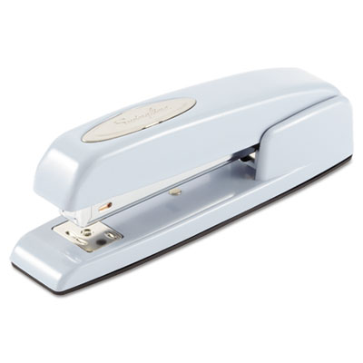 747 Business Full Strip Desk Stapler, 20-Sheet Capacity, Sky Blu