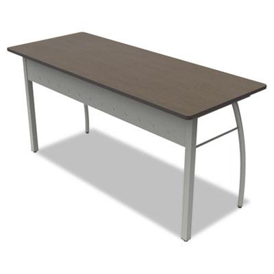Trento Line Rectangular Desk, 59-1/8w x 23-5/8d x 29-1/2h, Mocha