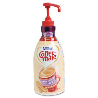 Liquid Coffee Creamer, Sweetened Original, 1500mL Pump Dispenser