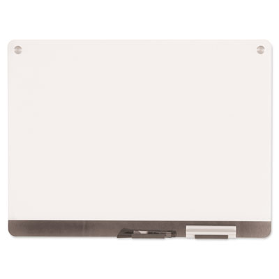 Clarity Glass Personal Dry Erase Boards, Ultra-White Backing, 24
