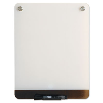 Clarity Glass Personal Dry Erase Boards, Ultra-White Backing, 12