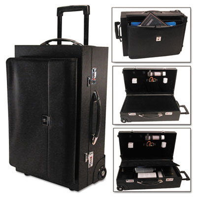 Wheeled Sample/Catalog Case, 14 1/4 x 23 1/2 x 11 1/4, With Lock