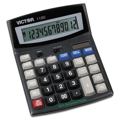 1190 Executive Desktop Calculator, 12-Digit LCD