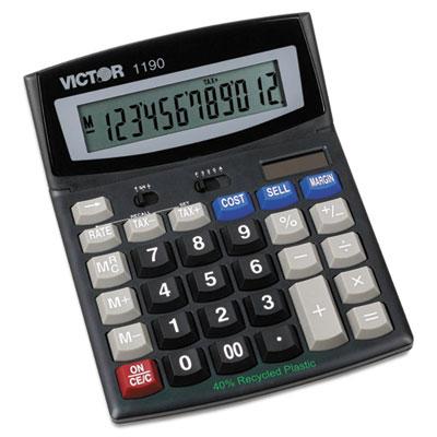 1190 Executive Desktop Calculator, 12-Digit LCD<br />91-VCT-1190