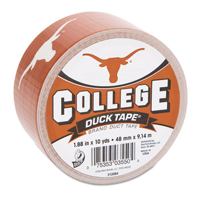 "College DuckTape, University of Texas Longhorns, 1.88"" x 10 yds,"