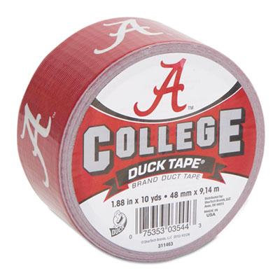 "College DuckTape, University of Alabama Big Al, 1.88"" x 10 yds,"