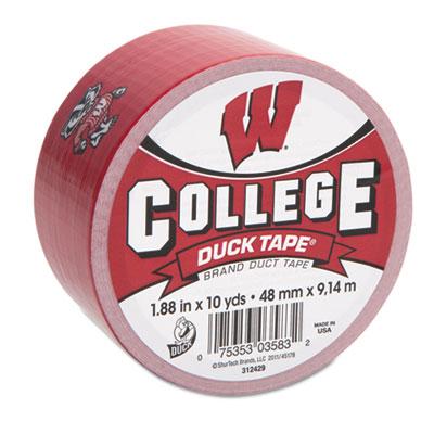 """College DuckTape, University of Wisconsin Badgers, 1.88"""" x 10 yd"""