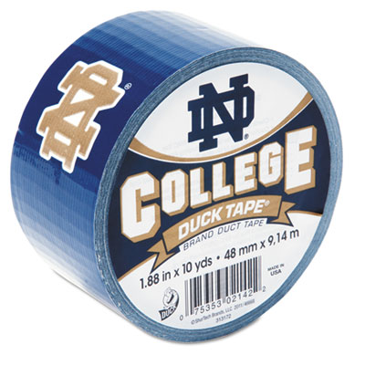 "College DuckTape, Notre Dame Fighting Irish, 1.88"" x 10 yds, 3"""