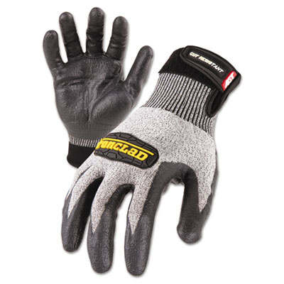 Cut Resistant Stainless Steel, Nylon-Mesh Gloves, Black, X-Large
