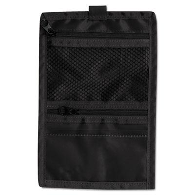 Travel ID/Document Holder, 5w x 7-3/4h, Black Nylon, 5/Pack