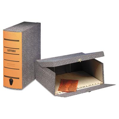 "2-1/2"" Capacity Box File Storage Box, Letter, Binder Board, Blac"