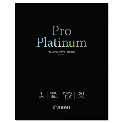 Photo Paper Pro Platinum, High Gloss, 8 x 10, 80 lb.,White, 20 S