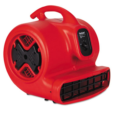 Commercial Three-Speed Air Mover, 1/2 hp Motor, 20 Ibs, Red/Blac