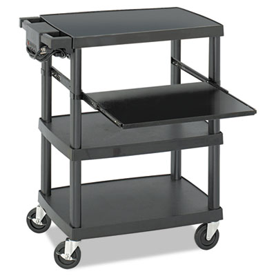 Multimedia Projector Cart, Four-Shelf, 27-3/4w x 18-3/4 x 34-3/4
