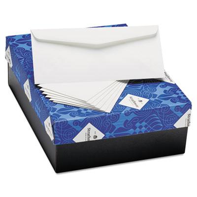 25% Cotton Business Envelopes, Bright White, Laid Finish, 24 lbs