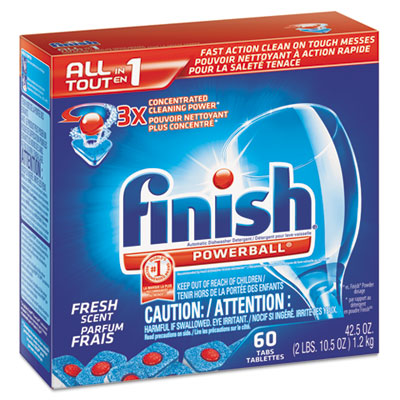 Powerball Dishwasher Tabs, Fresh Scent, 60/Box